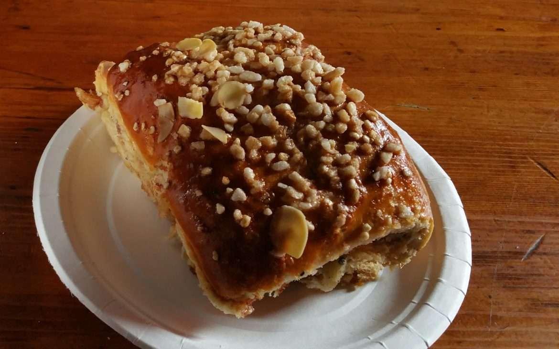 Cinnamon bun at Cafe Regatta in Helsinki, Finland