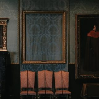 Frame of one of the stolen paintings from the Dutch Room at the Isabella Stewart Gardner Museum in 1990. Have you ever been to the Gardner?